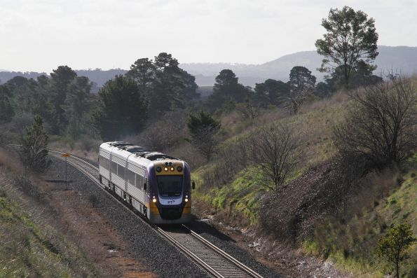 VLocity VL12 heads out of Malmsbury on an up Bendigo service