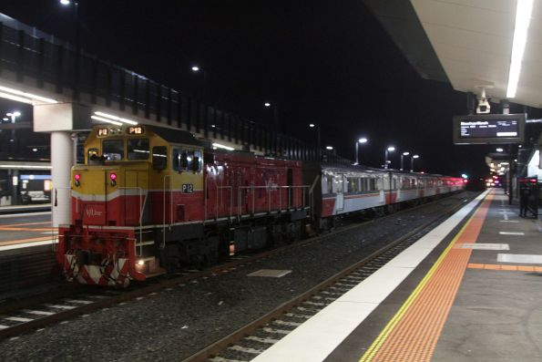 P12 trails the failed push-pull set out of Sunshine, bound for Southern Cross