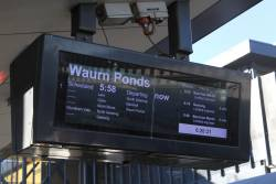 Which train is this - Waurn Ponds and Bacchus Marsh trains both advertised as 'next'