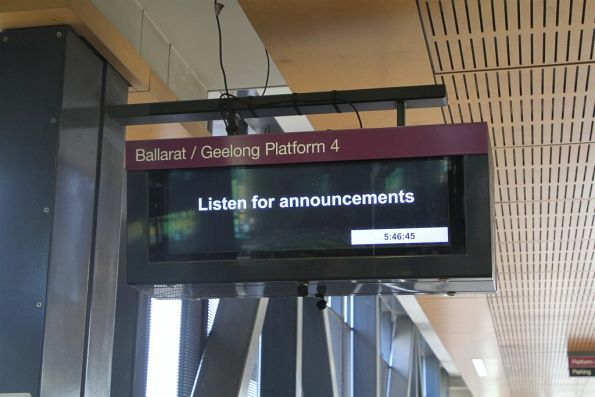 'Extreme Heat Timetable' in place, and the V/Line next train displays at Sunshine are useless
