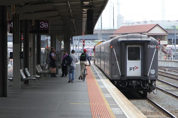 Running down the entire length of Southern Cross platform 3 to reach the Warrnambool train waiting at the very end