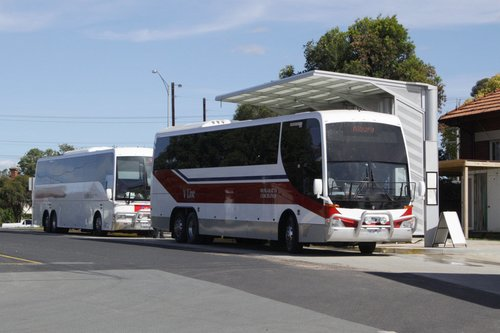 Coaches before departure from Seymour for the Albury connection