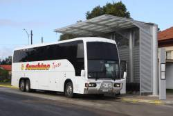 Sunshine Tours road coach 1182AC at Seymour railway station