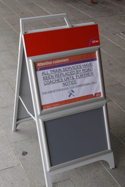 Either V/Line make professional signs quickly, or this was ready made from last week