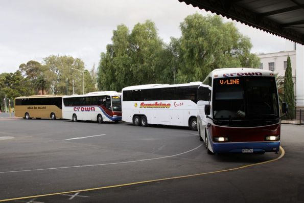 More coaches queued up at Geelong Station