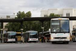 Driver Bus Lines 1039AO departs Geelong Station