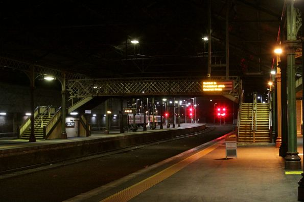 Empty platform at Geelong Station