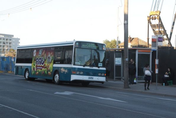Kastoria Bus Lines 1416AO outside Footscray station, presumably for a Melton rail replacement service