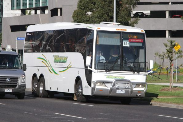 Trotters bus 0809AO on a Ballarat line rail replacement service on Footscray Road