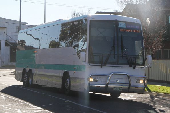 Coach BS05FE on a Ballarat rail replacement service at Sunshine station