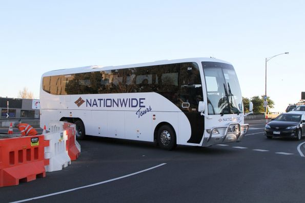 Nationwide Coaches #211 5947AO on a Ballarat rail replacement service at Sunshine station