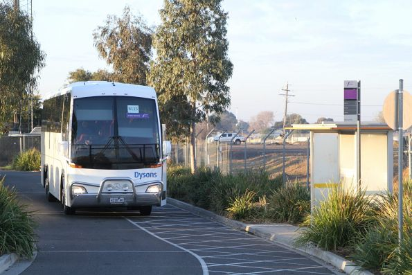 Dysons coach 4330AO on a Ballarat rail replacement service at Sunshine station