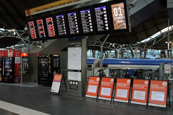 Every V/Line service from Southern Cross except for Seymour and Gippsland replaced by buses