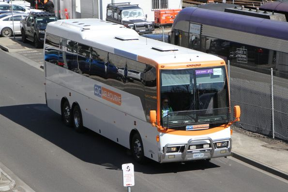 CDC Melbourne coach #56 5465AO on a Ballarat line rail replacement service at Southern Cross