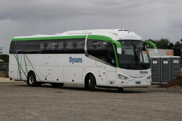 Dysons coach #903 BS01UK between Ballarat line rail replacement services at Melton