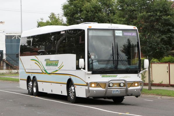 Trotters coach #60 0810AO on a Ballarat line rail replacement service along Hampshire Road, Sunshine