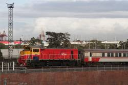 P11 heads the push-pull Bacchus Marsh service towards Southern Cross