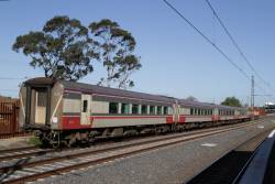Carriage set N11 trailing through Middle Footscray on the down Swan Hill service