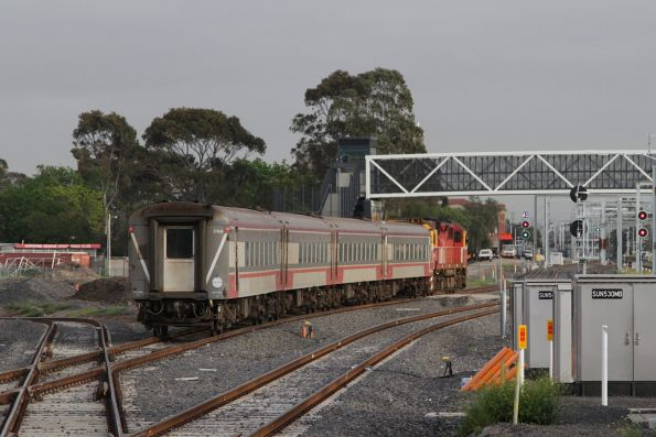 Down Swan Hill service gets clear run through the 80km/h pointwork at the down end of Sunshine