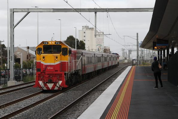 P15 leads an up push-pull service along the RRL tracks at West Footscray