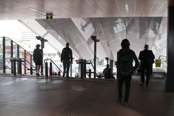 V/Line passengers have to head downstairs at Footscray for City Loop services