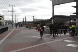Changing trains at Footscray - now down the ramp for platform 1