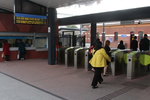 Changing to a City Loop service at Footscray, and you have to touch on again