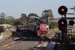 P14 leads a push-pull service ex-Bacchus Marsh into Sunshine