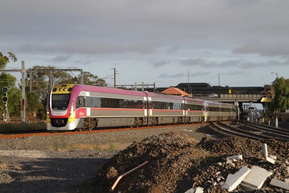 VLocity 3VL49 and classmate depart Sunshine with a down Bendigo service