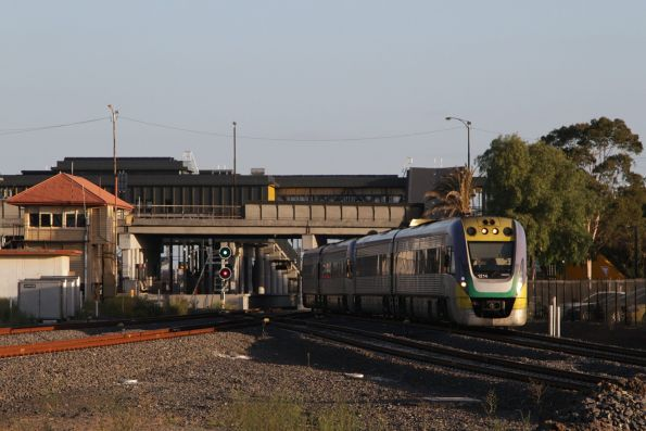 VLocity VL14 and classmate depart Sunshine with a down Ballarat service