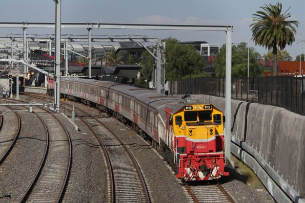 P12 leads a down Bacchus Marsh push-pull service out of Footscray