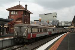 Tail end of carriage set SH23 at Footscray