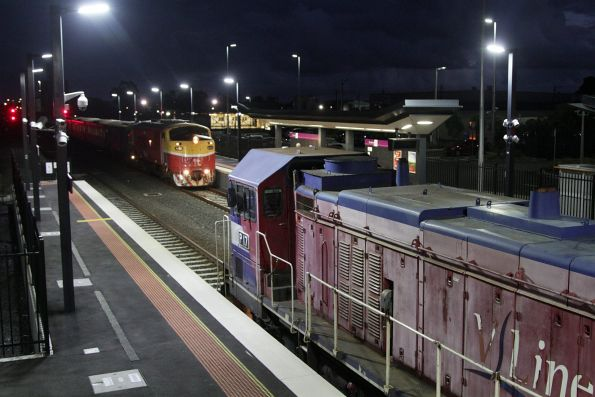 V/Line museum pieces cross paths at Sunshine