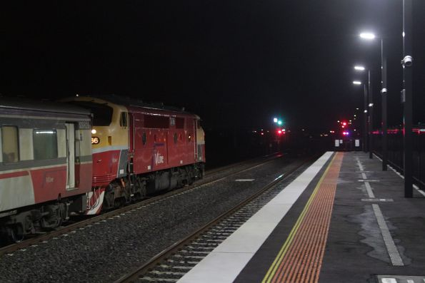 A66 departs Sunshine with an up Bacchus Marsh service
