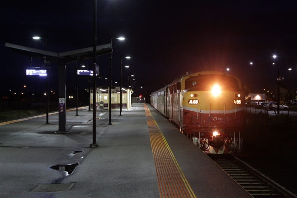 A66 ready to depart from Deer Park on an up Bacchus Marsh service
