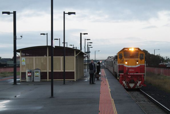 P12 arrives into Deer Park with an up Bacchus Marsh service