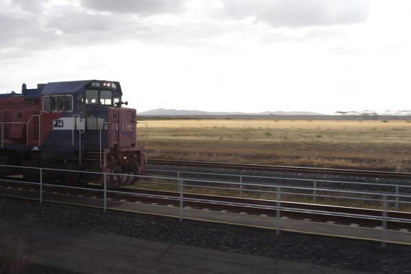 P14 stabled in the turnback siding at Wyndham Vale South