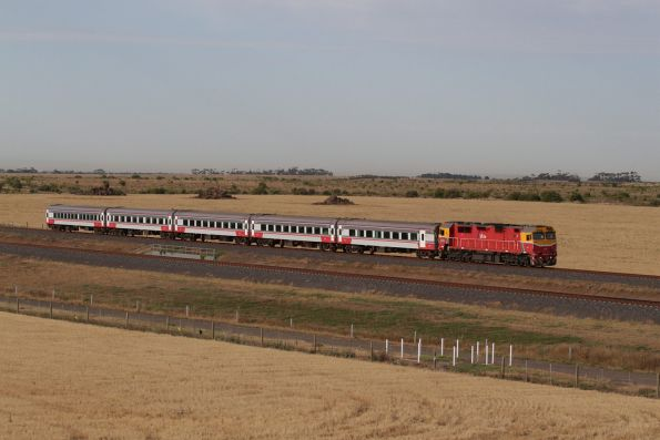 N472 leads an up Geelong service towards Wyndham Vale South