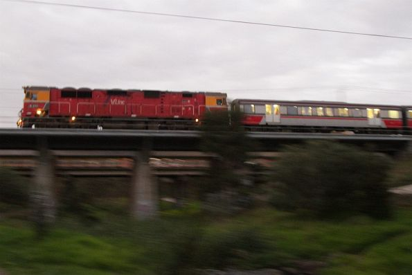 N class leads a down service over Kororoit Creek at Ardeer
