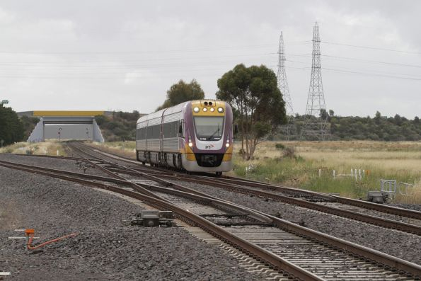 VLocity VL18 leads an up Ballarat service through Deer Park Junction