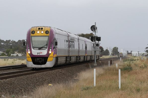 VLocity VL05 and classmate lead a down service towards Deer Park Junction