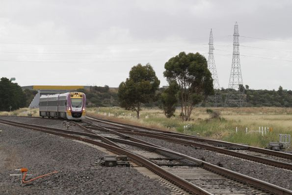 VLocity VL36 forms an up Geelong service at Deer Park Junction