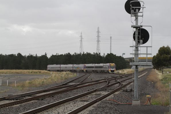 Pair of VLocity trains ex-Geelong meet the Ballarat line at Deer Park Junction