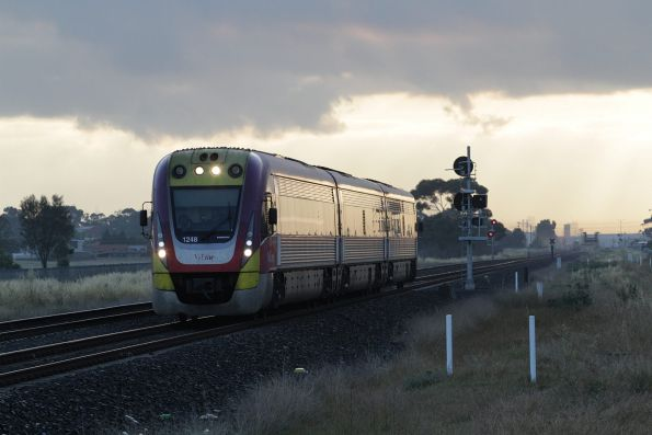 VLocity VL48 leads a down service towards Deer Park Junction