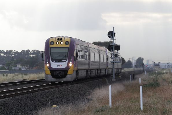 VLocity VL11 and classmate on a down service at Deer Park Junction