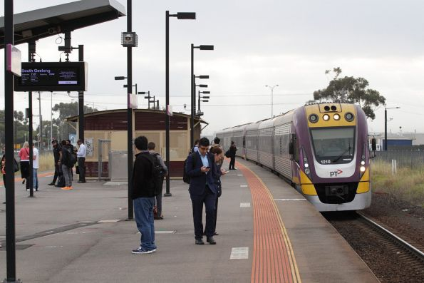 VLocity VL10 and classmate arrive at Deer Park with a down South Geelong service