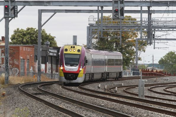 VLocity VL49 forms an up service passing Middle Footscray