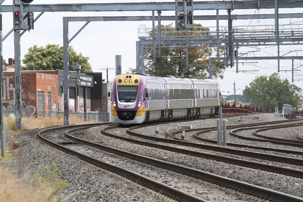 VLocity VL57 forms an up service passing Middle Footscray
