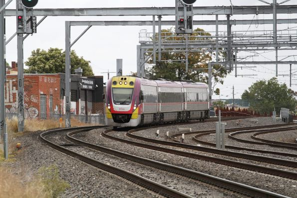 VLocity VL45 forms an up service passing Middle Footscray