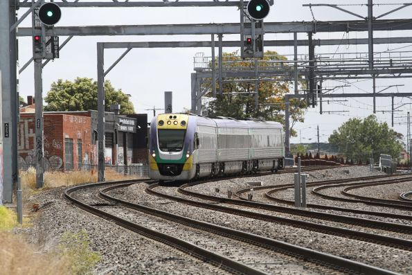 VLocity VL32 forms an up service passing Middle Footscray